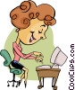 receptionist Vector Clipart picture