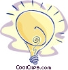 Vector Clip Art picture  of a light bulb