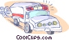 Vector Clip Art graphic  of a emergency services ambulance