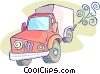 Vector Clip Art image  of a transport truck