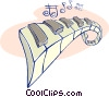 Vector Clip Art image  of a piano keys