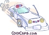 Vector Clip Art picture  of a police car