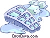 Vector Clip Art image  of a Ice cubes