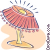 Vector Clip Art image  of a living room lamp