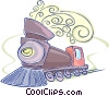Vector Clipart image  of a steam locomotive
