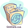 Vector Clip Art picture  of a washing machine