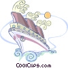Vector Clipart image  of a cruise ship