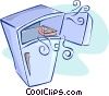 Vector Clip Art picture  of a fridge