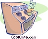 stove Vector Clipart illustration
