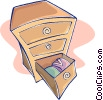 chest of drawers Vector Clipart illustration