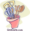 Vector Clipart graphic  of a kitchen tools