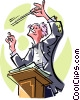 conductor Vector Clip Art graphic