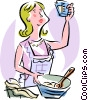 Vector Clipart picture  of a baking