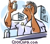 Vector Clipart image  of a pharmacist