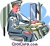 Vector Clipart illustration  of a bus driver