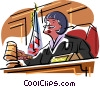 Vector Clipart illustration  of a judge