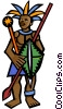 African native Vector Clipart illustration
