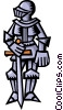 Knight in armor Vector Clipart illustration