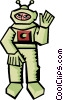 space astronaut Vector Clip Art graphic