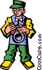 Vector Clip Art graphic  of a tourist with a camera