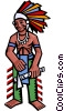 North American Indian Vector Clip Art graphic