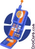 cellular phone Vector Clipart illustration