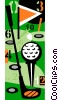 Vector Clip Art graphic  of a golf