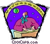 Vector Clip Art picture  of an astrology