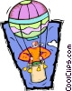 hot air balloon enthusiast Vector Clipart illustration