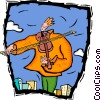 Vector Clipart graphic  of a playing the violin