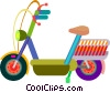 Vector Clip Art image  of a motor scooter
