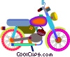 motorcycle Vector Clipart graphic