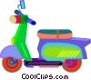 Vector Clip Art graphic  of a motor scooter