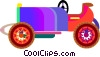Vector Clip Art image  of an antique automobile