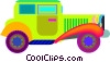 antique automobile Vector Clipart graphic