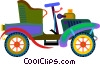 Vector Clip Art graphic  of an antique automobile