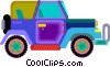 Vector Clipart graphic  of a jeep