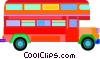 Vector Clip Art image  of a double-decker bus