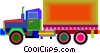 transport truck Vector Clip Art picture