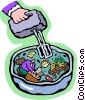 Vector Clip Art image  of a mixing things up