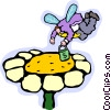 Vector Clip Art graphic  of a money flower