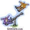 Vector Clipart image  of a teeter totter
