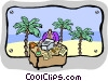 office on the beach Vector Clipart picture