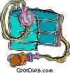 blood pressure monitor Vector Clip Art image