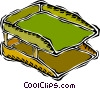 Vector Clipart illustration  of a in/out basket