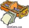Vector Clip Art image  of a card catalog