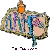 Vector Clipart graphic  of a dentist tray