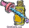 Vector Clip Art graphic  of a eye drops