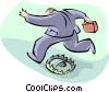 jumping over a trap Vector Clip Art picture