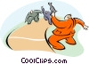 Vector Clip Art picture  of a running a race
